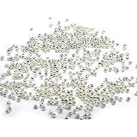 【HARU雑貨】シルバー カシメ玉 2mm×1.5mm 100個セット つぶし玉 銀/留め具 ボールチップ/ハンドメイド パーツ