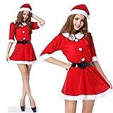 monoii サンタ コスプレ レディース サンタコス サンタクロース 衣装 コスチューム クリスマス コスプレ c117