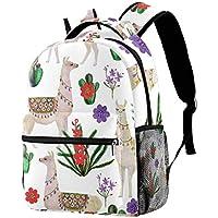 Backpack Llama and Cactus (2) School Bag Bookbag Hiking Travel Rucksack
