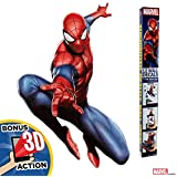 (Spider-Man) - Marvel Spider-Man Augmented Reality Wall Decal Peel & Stick Removable Vinyl