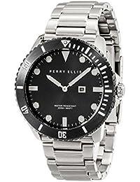 [ペリー・エリス]Perry Ellis 腕時計 DEEP DIVER(ディープ・ダイバー) クォーツ 42 mmケース ステンレススティールバンド 06004-02 メンズ 【正規輸入品】