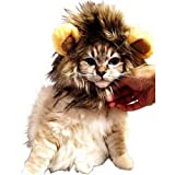 【 可愛さ 超 アップ 】 愛 犬 愛 猫 用 ウィッグ 「 ライオン の たてがみ (耳 付き) 」 おしゃれ 簡単 装着 着せ替え MI-TATEGAMI