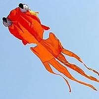 Kengel ®アウトドア楽しいスポーツGoldfishソフトカイトwithハンドルと120 ftラインオレンジ