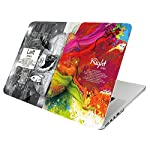 HOIBAI MacBook Air 13インチ 専用ケース ハードケース マックブック エア カバー 対応モデル A1369 / A1466 超薄型 軽量 耐衝撃 保護 フランネルの鞄付き (MacBook Air 13インチ, 左右脳D)