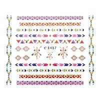 オルテガ柄シール【E457】インディアン オルテガ ミサンガ ネイティブ ボヘミアン ネイルシール ジェルネイル