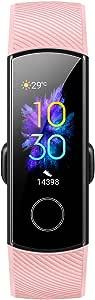 HUAWEI HONOR Band 5 スマートウォッチ スマートブレスレット 歩数計 活動量計 リアルタイム心拍モニタリング 睡眠検測 水泳ストローク認識 写真撮り 着信電話通知 0.95インチ AMOLEDディスプレイ 5ATM防水 Bluetooth 4.2 複数のスポーツモード (ピンク)
