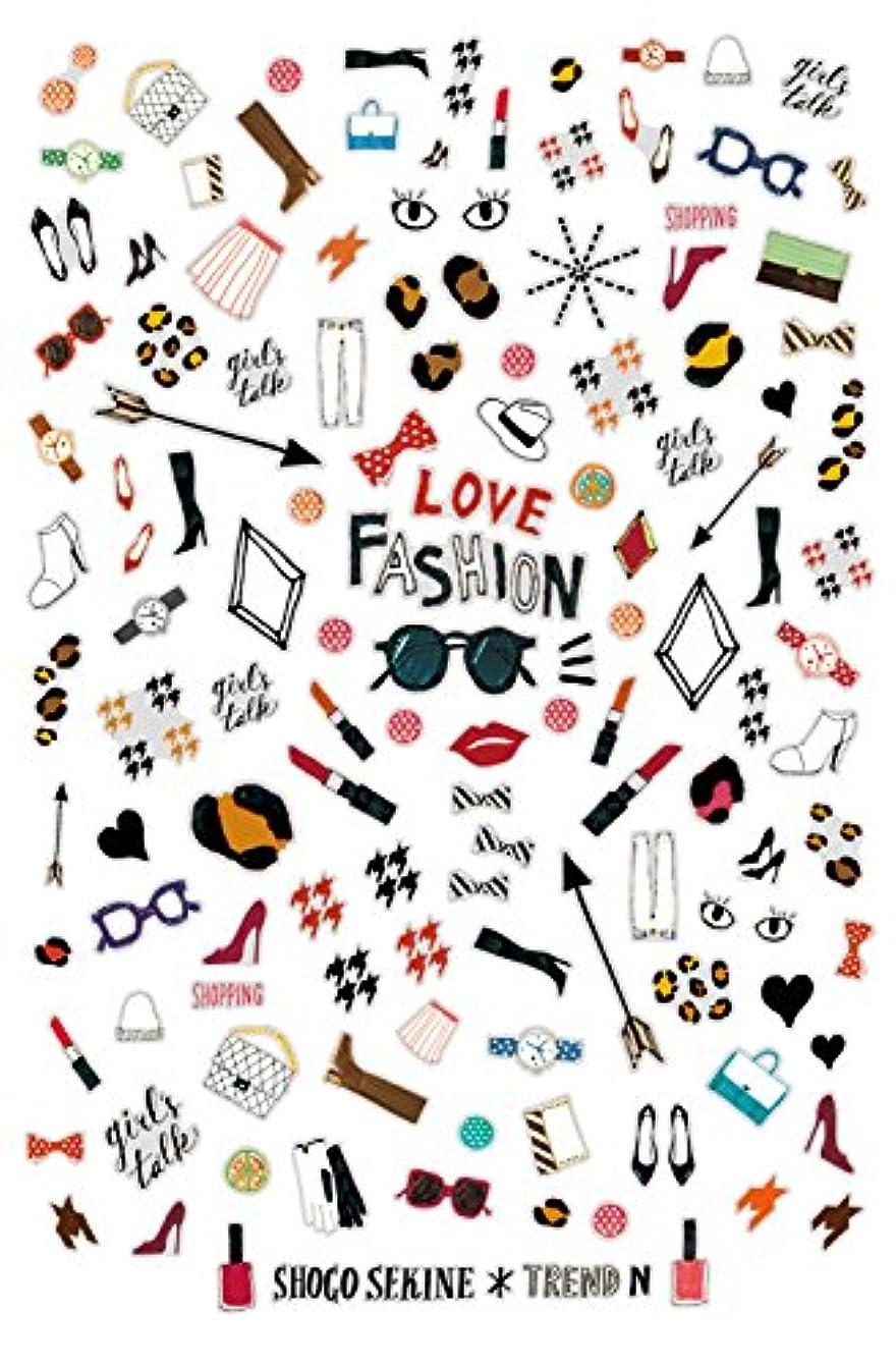吸収剤共感する月曜日トレンドN ネイルシール LOVE FASHION