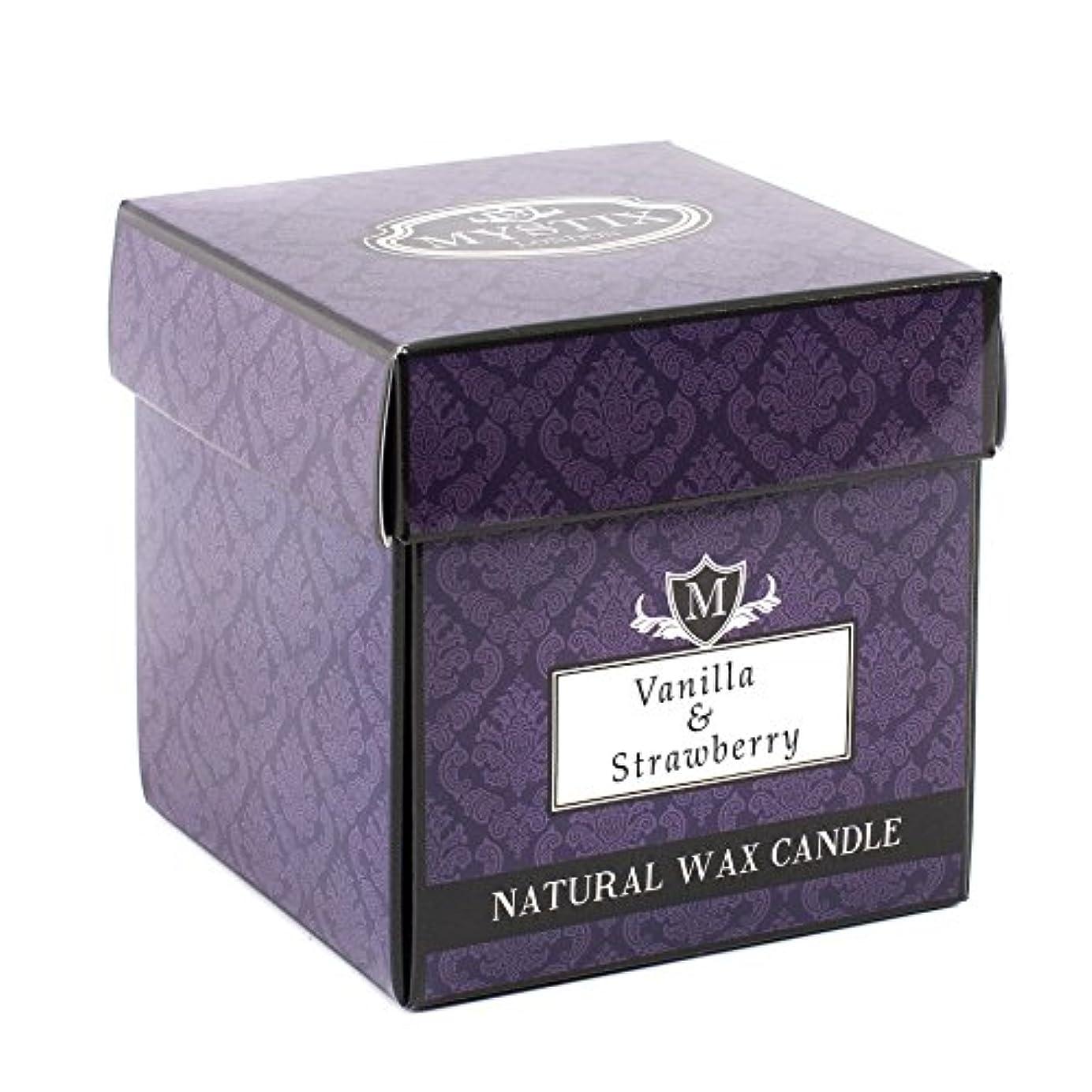 突き出す損傷省Mystix London | Vanilla & Strawberry Scented Candle - Large