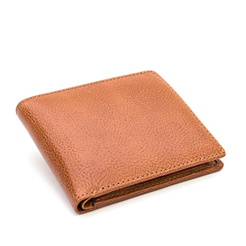 四半期勝利したレンチGlucklicher Kerl(ギリュックリヒャ ケアル) 二つ折財布(小銭入れ付き) イタリアンレザーで製作した革財布 メンズ