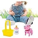 おままごと 電子豚 給餌ゲーム びん 小さい豚 おもちゃ可愛い 舔 電子ペット 子供の贈り物 幼児 ギフト知育玩具 人気 プレゼント 早期開発 子供の日 お誕生日