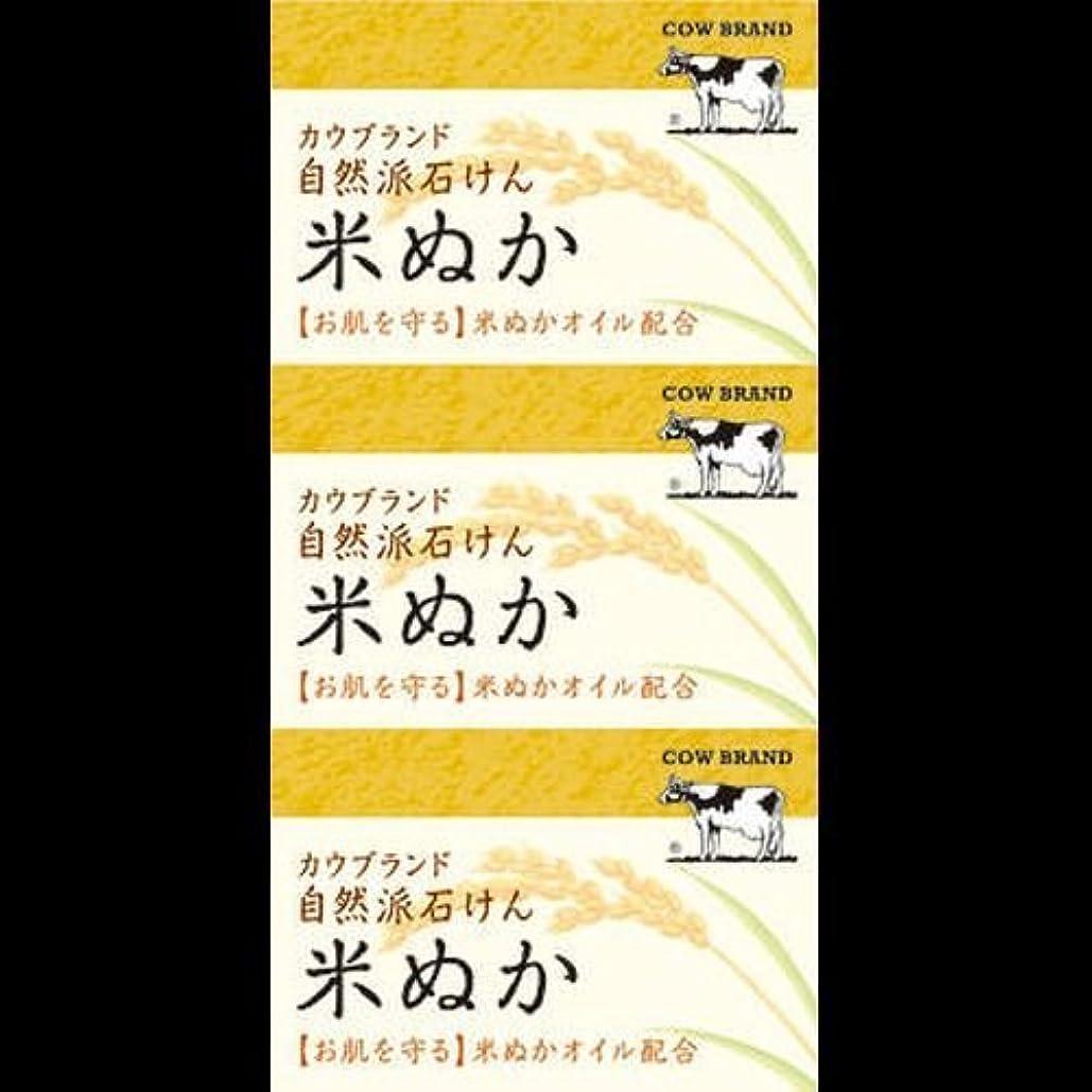 松メカニック工業化する【まとめ買い】カウブランド 自然派石けん 米ぬか 100g*3個 ×2セット