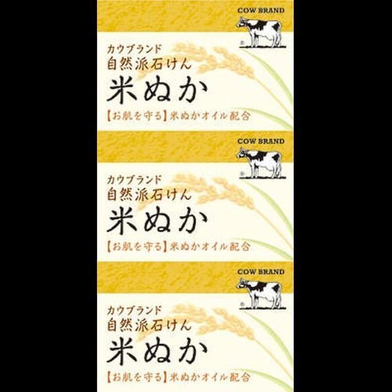 硬さ釈義硬さ【まとめ買い】カウブランド 自然派石けん 米ぬか 100g*3個 ×2セット