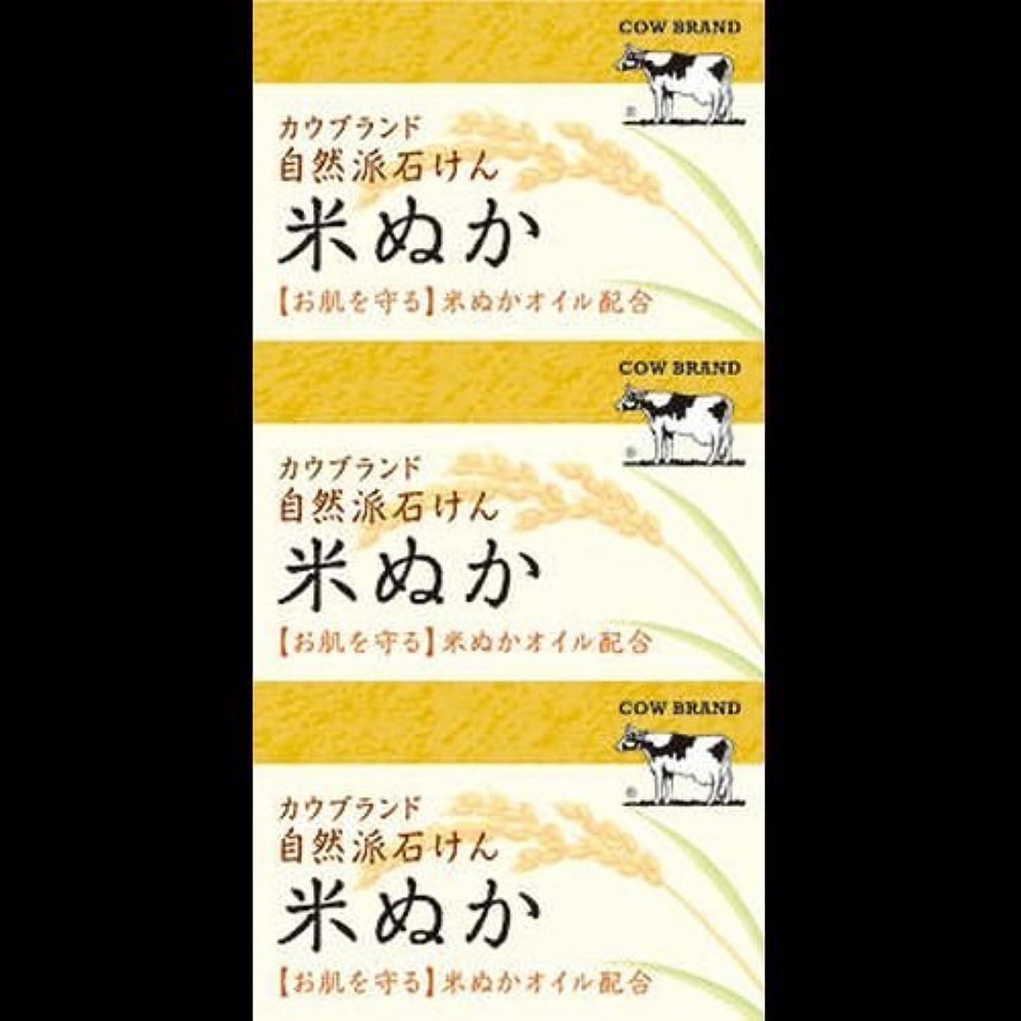 【まとめ買い】カウブランド 自然派石けん 米ぬか 100g*3個 ×2セット