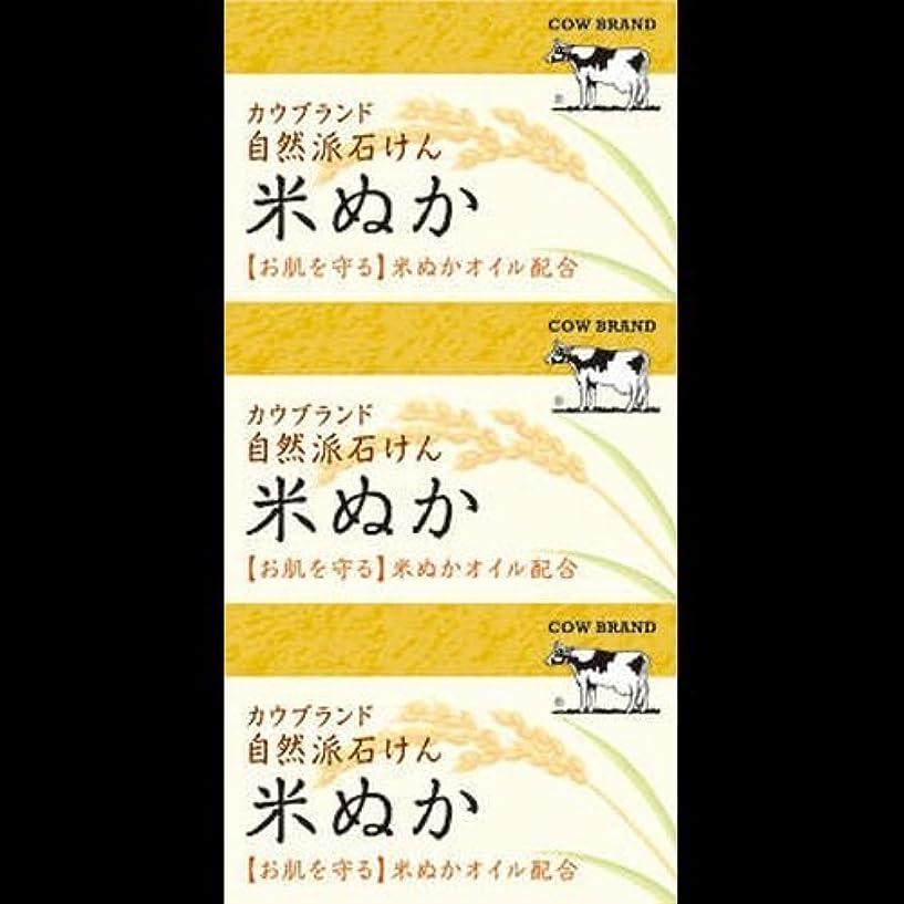 スポークスマンオリエンテーション障害【まとめ買い】カウブランド 自然派石けん 米ぬか 100g*3個 ×2セット