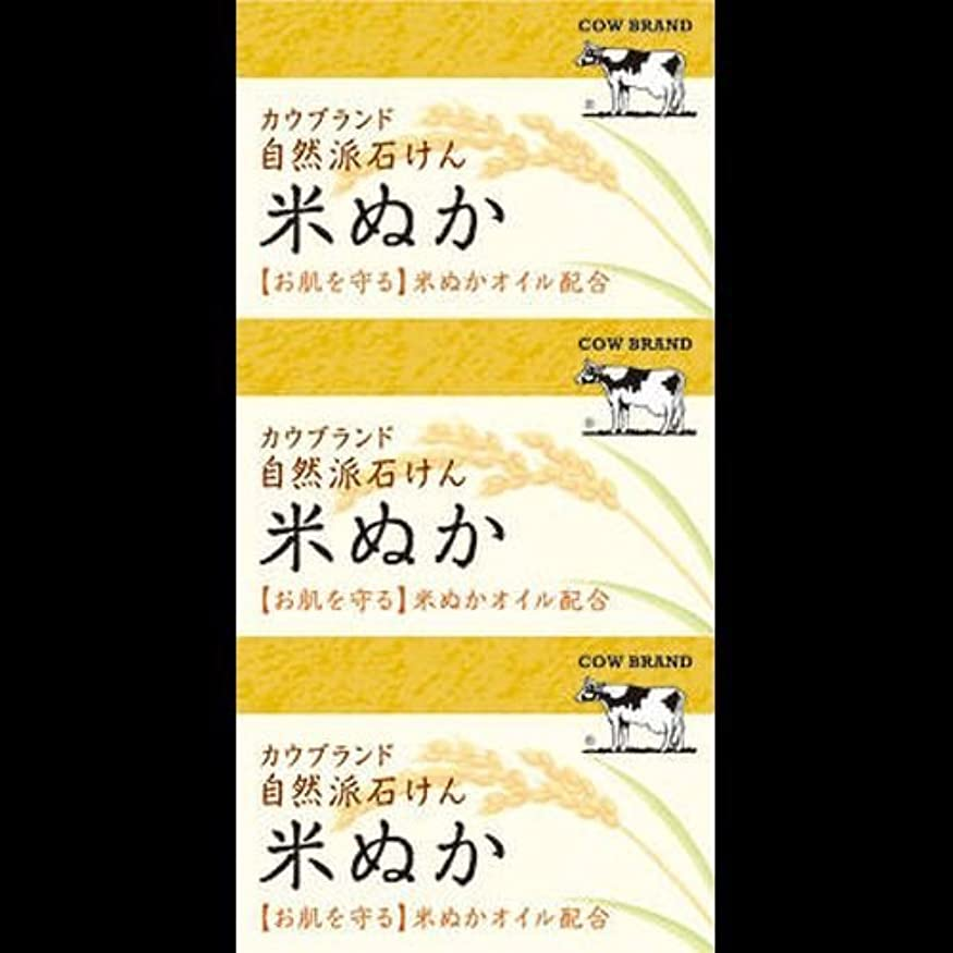 適用する配送対象【まとめ買い】カウブランド 自然派石けん 米ぬか 100g*3個 ×2セット