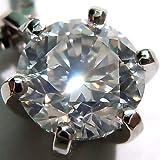 [Queen] プラチナ(Pt900) ダイヤモンド ネックレス (0.4ct以上/1粒石/6本爪/プラチナ/一粒ダイヤ)