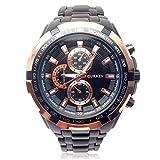 パイロットスタイルアナログウォッチ 立体的な高級感文字盤 防水 シンプル クオーツ ミリタリー メンズ 男性 金属 ベルト 腕時計 ブレスレット セット [Nexus]
