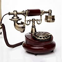 Mobeka 昔ながらのプッシュボタンロータリーディスク電話昔ながらのヨーロッパ風の牧歌的な電話住宅電話の固定電話固定電話 (設計 : Rotary dial)