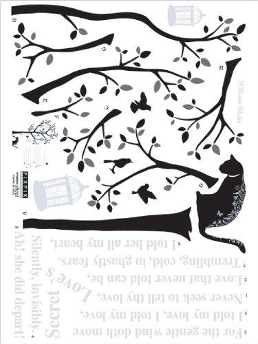 ウォールステッカーSS Cat&Tree SS58220