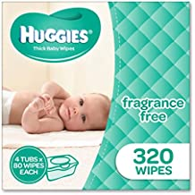Huggies Fragrance Free Baby Wipes Tubs (Pack of 320)