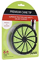 Juvo Products Premium Cane Tip with Extra Wide Base, Fits 3/4 or 7/8 Diameter Canes, Green/Black (SCT01) by Juvo