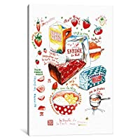 """iCanvasART 1Piece Strawberry Pieレシピキャンバスプリントby Lucile Prache 40"""" x 26""""/0.75"""" Deep LPE20"""
