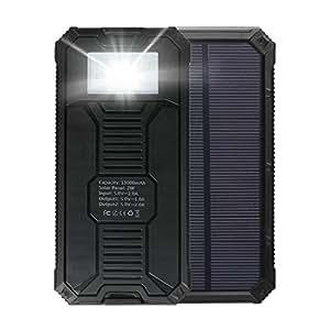 MixMart ソーラー充電器 スマートフォン モバイルバッテリー ソーラーチャージャー ソーラーバッテリー iPhone6 iPhone5 iPad Air miniスマホ/ニンテンドー大容量15000mAh ギャラクシー/ドコモ/海外 旅行用品
