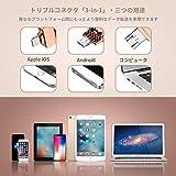 iPhone usbメモリ 32gb フラッシュドライブ 回転式フラッシュドライブ 3-in-1 Apple iOS/ Android/コンピュータ対応 暗号化ペンドライブライトニング 携帯便利 日本語取扱説明書付き (亜鉛合金・ローズゴールド)