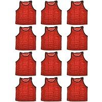 BlueDot Trading ユース練習試合用トレーニングベスト、複数カラー・数量あり 12 Vests