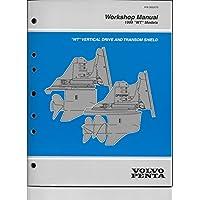 """1999ボルボ・ペンタWork Shop手動"""" WT """"垂直ドライブと欄間シールド3850075"""