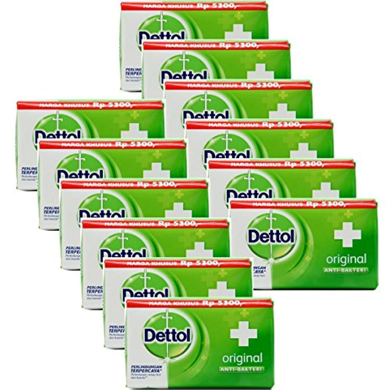 速度虚偽炭素Dettol(デトール) Anti-Bacterial Hand and Body Bar Soap, Original, 110 Gr / 3.88 Oz (12個セット)