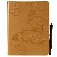 Flip Wallet Case for iPad 2 3 4 レザーカバー Shock Protection with Card Slots Lightweight ポーチ and Adjustable Stand Yellow