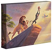 "The Lion King–Thomas Kinkadeディズニー8"" x 10""ギャラリーWrappedキャンバス"