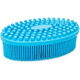 Agirlvct 100% Silicone Bath Shower Loofah Brush, Gentle Back Scrubber,Best body exfoliating loofa brush Baby Kids Men Father