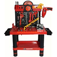 FoxHunter 54PC Children Kids Boys Tool Drill Kit Work Bench Workbench Set Role Play DIY Pretend Toy Game Gift New by KMS California [並行輸入品]