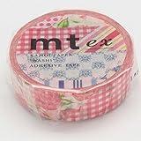 カモ井加工紙 mt ex Flower red R 15mm幅×10m巻き MTEX1P54