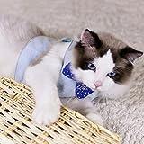Best 猫ハーネス - (Enerhu)猫ハーネス 猫用リード 胴輪 猫牽引ロープ 胸あて式 猫用 イングランド風 蝶結び Review
