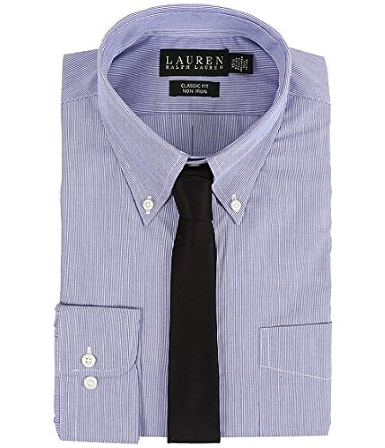 行為ファイターモスク(ローレンラルフローレン) LAUREN Ralph Lauren Yシャツ?ボタンダウンシャツ Hairline Stripe Classic Button Down Shirt Blue/White 18 x 36-...