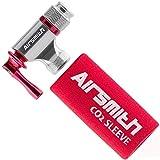 AirSmith 自転車 CO2ボンベ CO2インフレーター レバータイプ 保護スポンジ付 (シルバー)