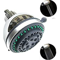 ELEAR 3.3 inch バースハウス節水ポリッシュバストップシャワーヘッドスプリンクラーラウンド