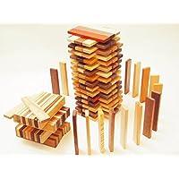 スプソリ 木のおもちゃ 積み木 カラフルスティックつみき 150ピース入り