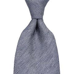 Hackett Linen Silk Solid Tie: Navy