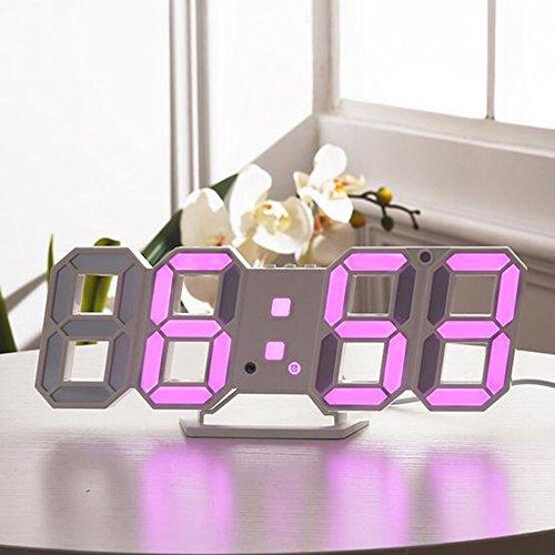 DBMART LED時計 電子LEDデジタル目覚まし時計 掛...