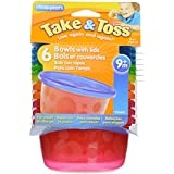 The First Years Take & Toss - Bowls with Lids (7pcs)