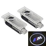 BMW 高品質 カーテシ LED レーザーロゴライト アンダースポット / ドアレーザーライト / カーテシライト 配線不要 / 純正交換タイプ BMW M マーク K001-77