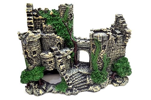 水槽用 オブジェ 古代 遺跡 風 アクアリウム オーナメント 城 隠れ家に (古城)