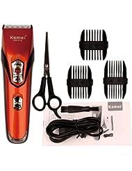 Zerozoon 電動充電バリカンヘアクリッパー整髪理髪ヘアトリマースタイリッシュプロ仕様アタッチメント オレンジ