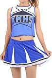 (モデルノ ラ テール) Moderno La Terre チアガール 衣装 上下 セット コスプレ スカート レディース ガールズ 女子 S M L XL XXL ML-CGH ミニ(ブルー M)