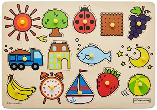 ボーネルンドオリジナル ピックアップパズル バラエティ [14ピース] 対象年齢 2歳
