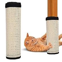 White Scratching Post Furniture Pet Table Leg Sofa Sisal Scratcher Pad, Sofa Scratcher Mat Table Leg Sisal Scratch Protect, for Cats Furniture Protection(white)